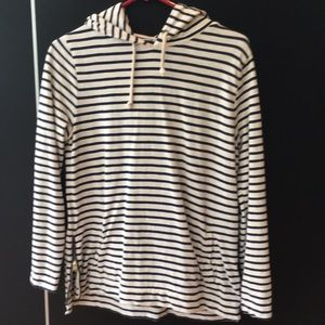 Beachy special accent striped  j crew hoody